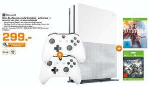 [Lokal Saturn Stuttgart] Microsoft Xbox One S 500GB + Battlefield 1 + Gears of War 4(als Downloadcode) + 2.ten Controller für 299,-€