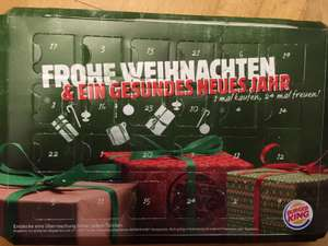 [Burger King] Adventskalender - Neue PLUs - u.a. Double Chili Cheese Burger für 1,49€ (!) in vielen Filialen - gültig bis 31.01.17