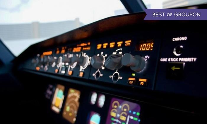 Airbus A320 Flugsimulator mit Briefing und optional Bildern für 1 bis zu 8 Personen bei Aixplane (Aachen - LOKAL)
