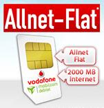 42,2 MBit/s Vodafone 2GB + telefonie Flat für effektiv 9,99€