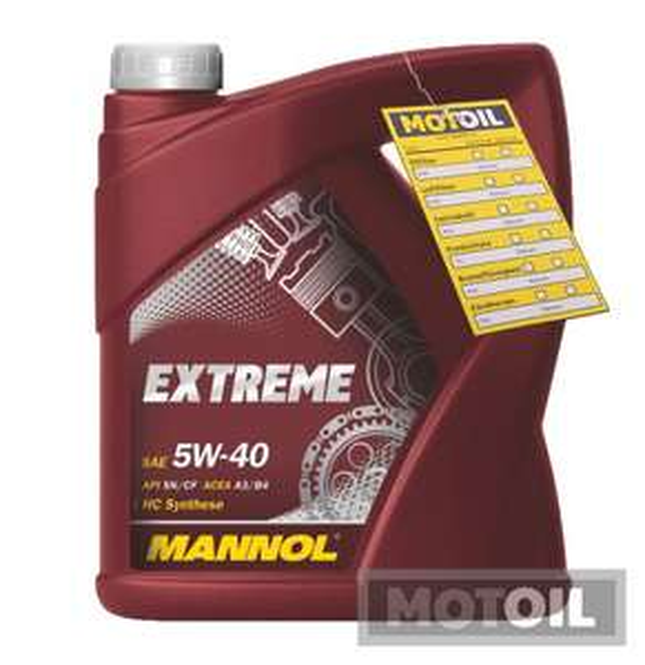 4 Liter Mannol SAE Extreme 5W-40 Motoröl (VW, Mercedes...)