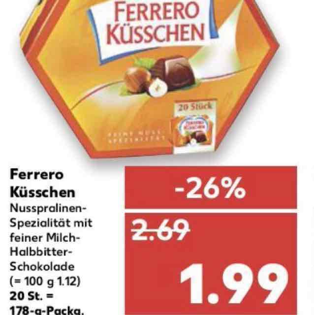 [Regional] ferrero Küsschen günstiger im kaufland ab Donnerstag in Pforzheim