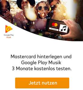 [Mastercard & Google Play Neukunden] 3 Monate Google Play Music GRATIS