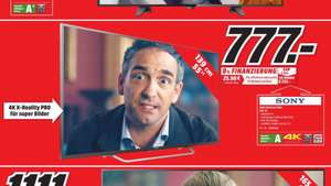 [Lokal MediaMarkt Neubrandenburg] Sony KD-55XD7005 139 cm (55 Zoll) Fernseher (4K HDR, Ultra HD, Smart TV) [Energieklasse A]