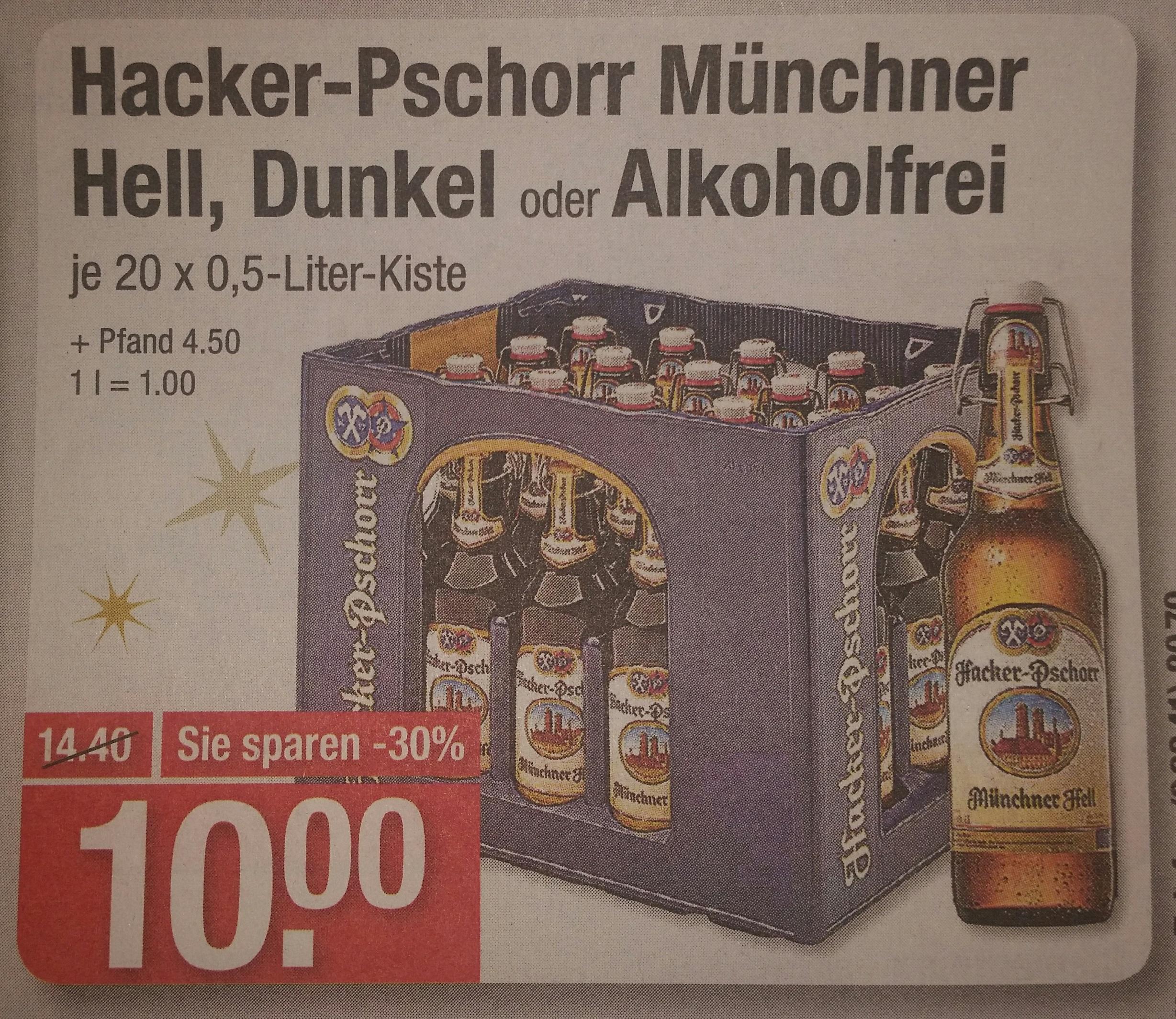 [V-Markt] Hacker-Pschorr Münchner Hell, Dunkel oder alkoholfrei