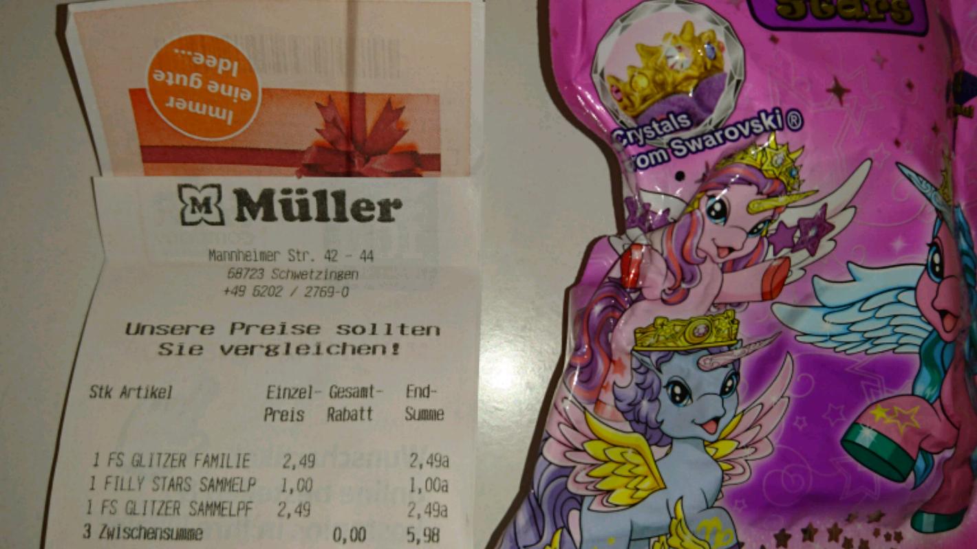 Filly stars (lokal@ Müller Drogeriemarkt in 68723 Schwetzingen)