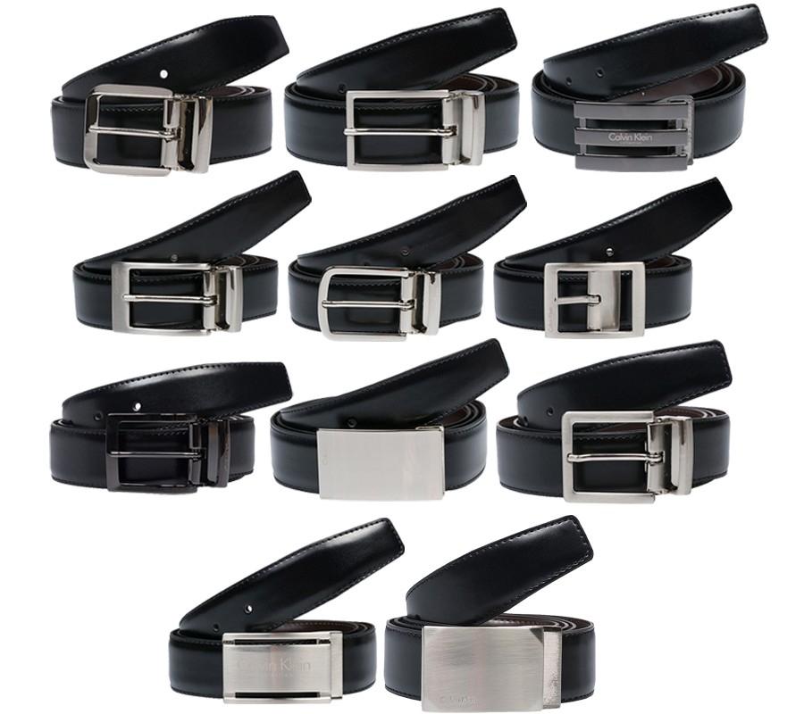 [@outlet46] Wieder zu haben! Calvin Klein Herren Ledergürtel in schwarz inkl. Geschenkbox