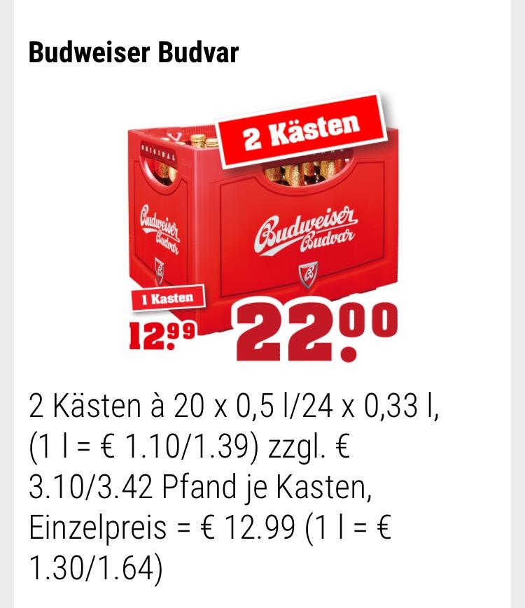 [trinkgut NRW]  Bier Budweiser Budvar