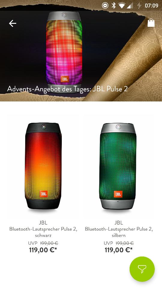 JBL Pulse 2 für 114€bei Brands4Friends - Bluetooth Lautsprecher durch 10% Gutschein