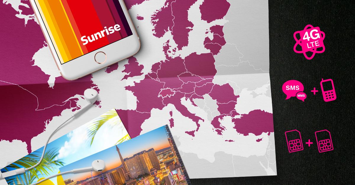 [Schweiz] Sunrise Handy Abo 55 CHF/Monat (statt 130CHF) - alles unlimitiert inkl. Ausland (SMS,Telefonie,2GB) + 2te SIM