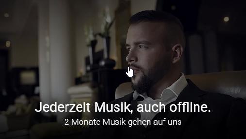 Google Play Music zwei Monate kostenlos für ehemalige Bestandskunden / Altkunden