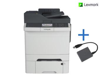 Lexmark CX410dte Multifunktions-Farblaserdrucker + WLAN-Druckserver mit NFC - IDEALO:696,00€