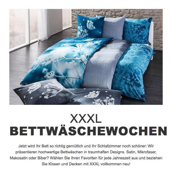 Kuschelzeit: Bettwäsche bis zu 70% reduziert und versandkostenfrei bei XXXL