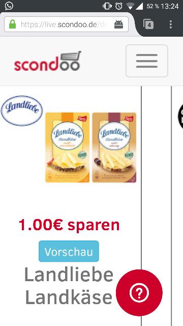 SCONDOO Adventskalener LEAK - Tür 16 - Landliebe Landkäse - 1€ sparen!