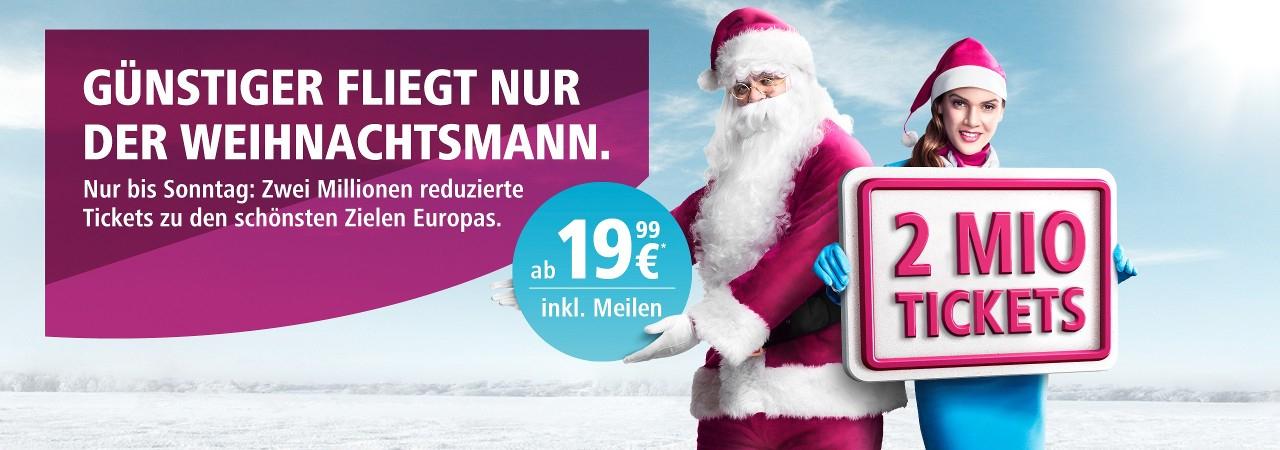 [Eurowings] 2 Millionen Flüge quer durch Europa ab 12,99€