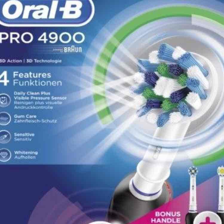 [Lokal Saarbrücken] Braun Oral-B Pro 4900 mit 2.Handstück für 79,99€ bei Mediamarkt