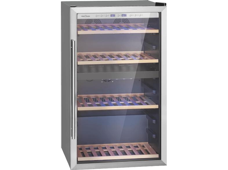 [Mediamarkt Adventskalender]PROFI COOK PC-WC 1064 Weinklimaschrank (249 kWh/Jahr, EEK C, 71 Flaschen, Edelstahl/Schwarz)