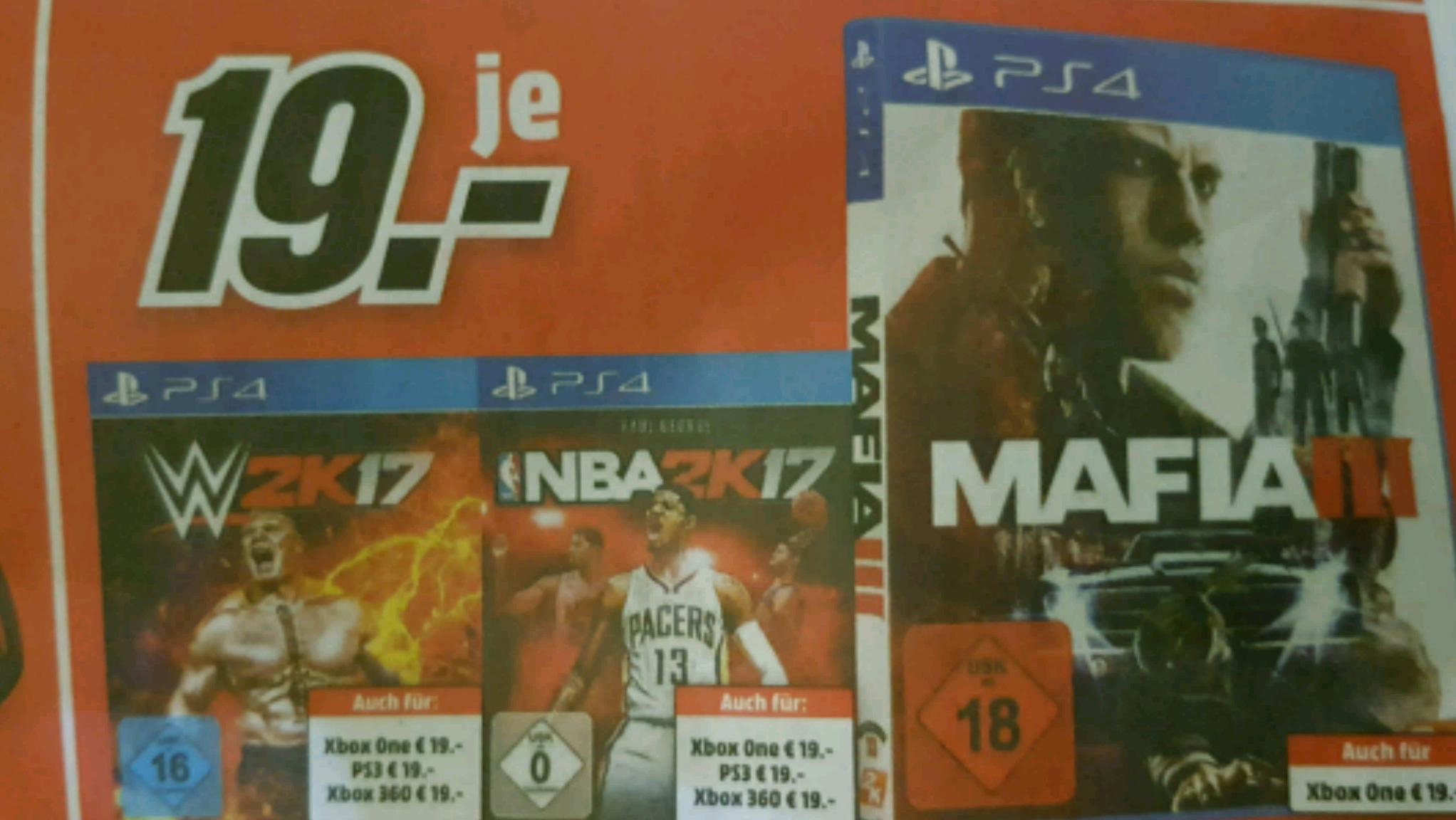 [MediaMärkte in München und Umgebung] Mafia 3, Nba 2k17, wwe2k17 für 19.-