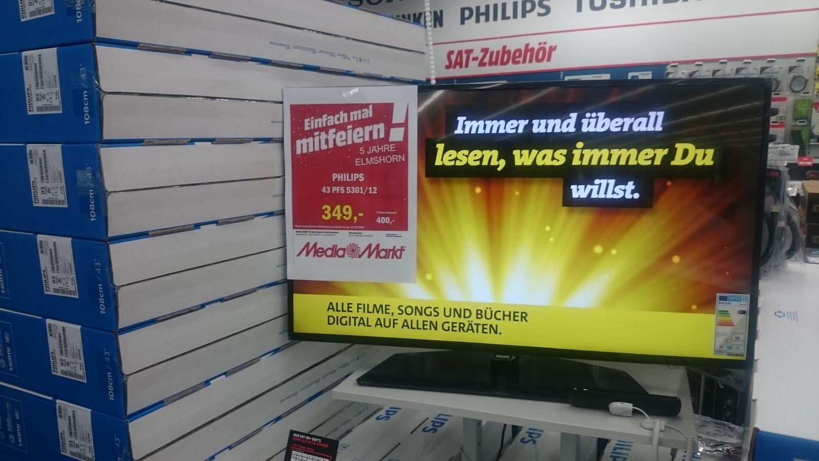 PHILIPS 43 PFS 5301 - MEDIAMARKT ELMSHORN - FullHD - Smart TV - 349 €