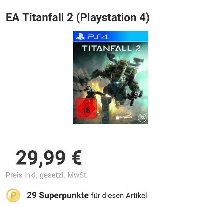 [Rakuten] Titanfall 2 für PS4 29,99€ | VSK FREI
