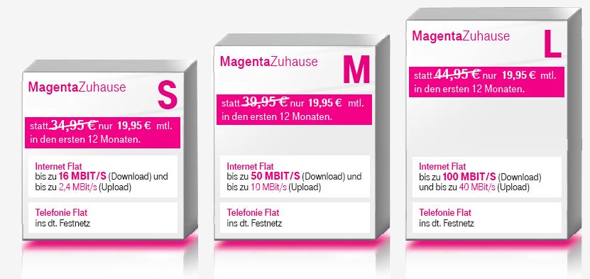 Telekom Magenta Zuhause S/M/L mit oder ohne Entertain Aktionsangebote ab eff. 12,45€ bis zu 360€ Cashback und 120€ Onlinebonus