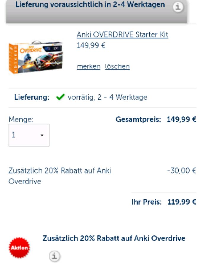 Anki Overdrive Starter Kit für 122,94