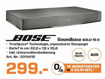 Bose Solo 15 Series II TV Sound System schwarz für 299,-€ Versandkostenfrei* [Saturn]