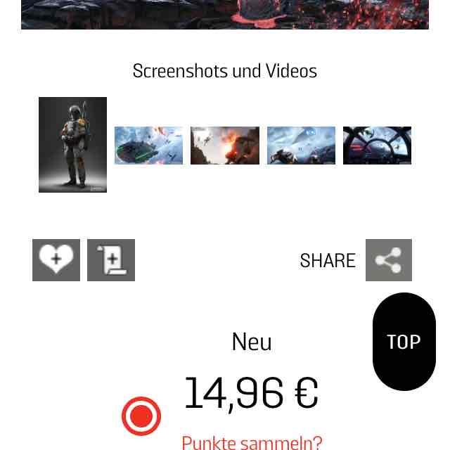 Star Wars Battlefront ( PS4 ) im Gamestop für 14,96 Euro