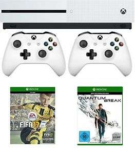 Xbox One S 500GB Konsole (weiß) + Fifa 17 + Quantum Break + 2. Controller für 264,98€ Inkl.VSK & Xbox One S 500GB Konsole (Weiß) + Minecraft für 239€ Inkl. VSK (eBay.de)