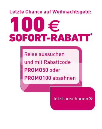 100€ LTUR Gutschein auf alle Pauschalreisen!