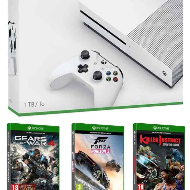 Amazon.it XBox One S 1 TB +Killer Instinct+ Forza Horizon+ Gears of War 4