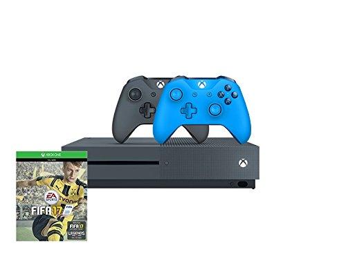 Xbox One S 500GB (grau) + Fifa 17 (Code) + 2.Controller (blau)  Special Edition 249€ [Amazon]