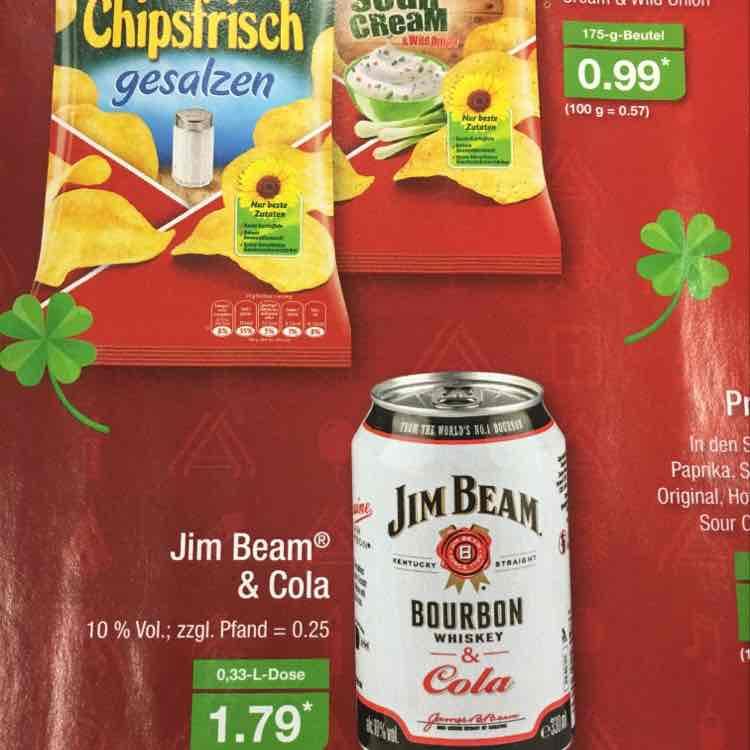 [ Aldi Nord ] Jim Beam & Cola 0,33 Dose 27.12-31.12
