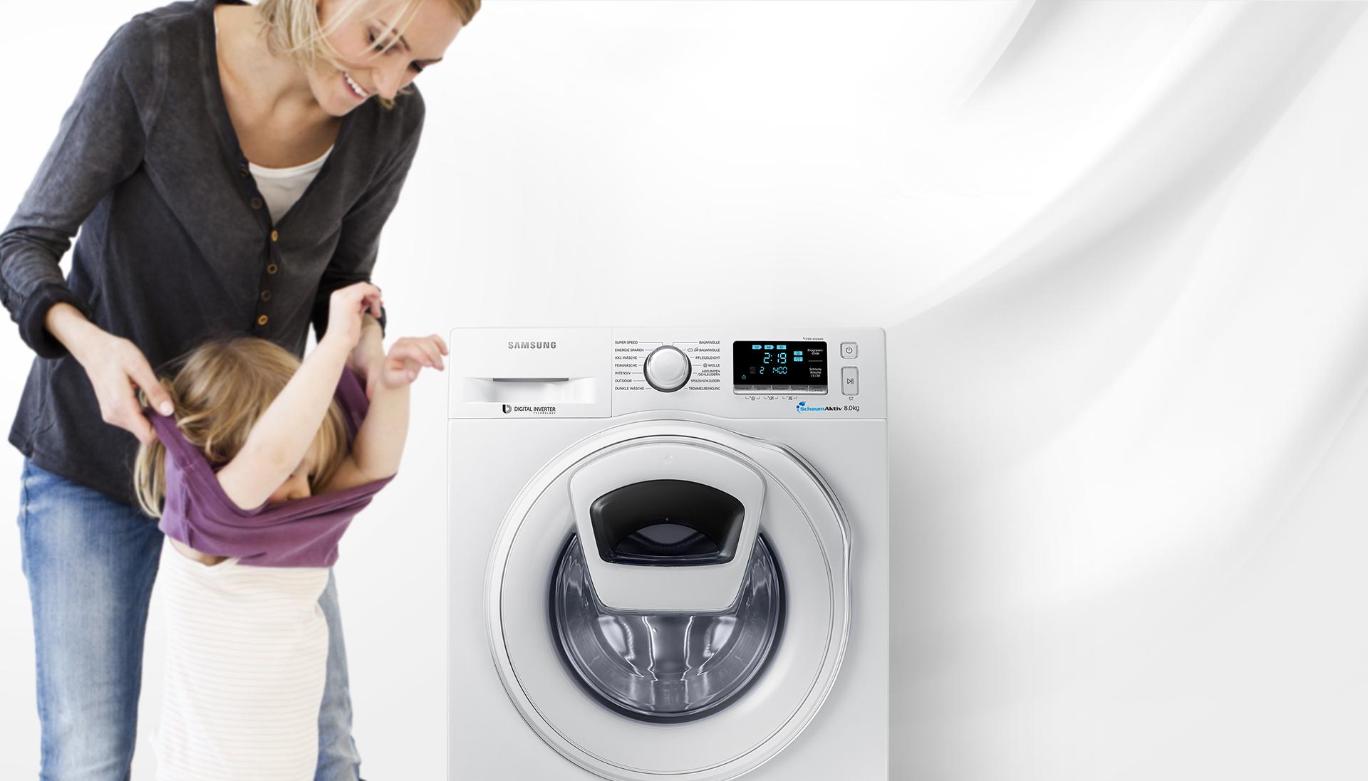 Nur noch heute mit Samsung Cashback! Smarte Waschmaschine WW80K6404 für 474€!