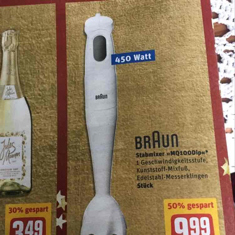 BRAUN MQ100Dip Stabmixer - REWE (Bayern - evtl. bundesweit) - Idealo 19,00