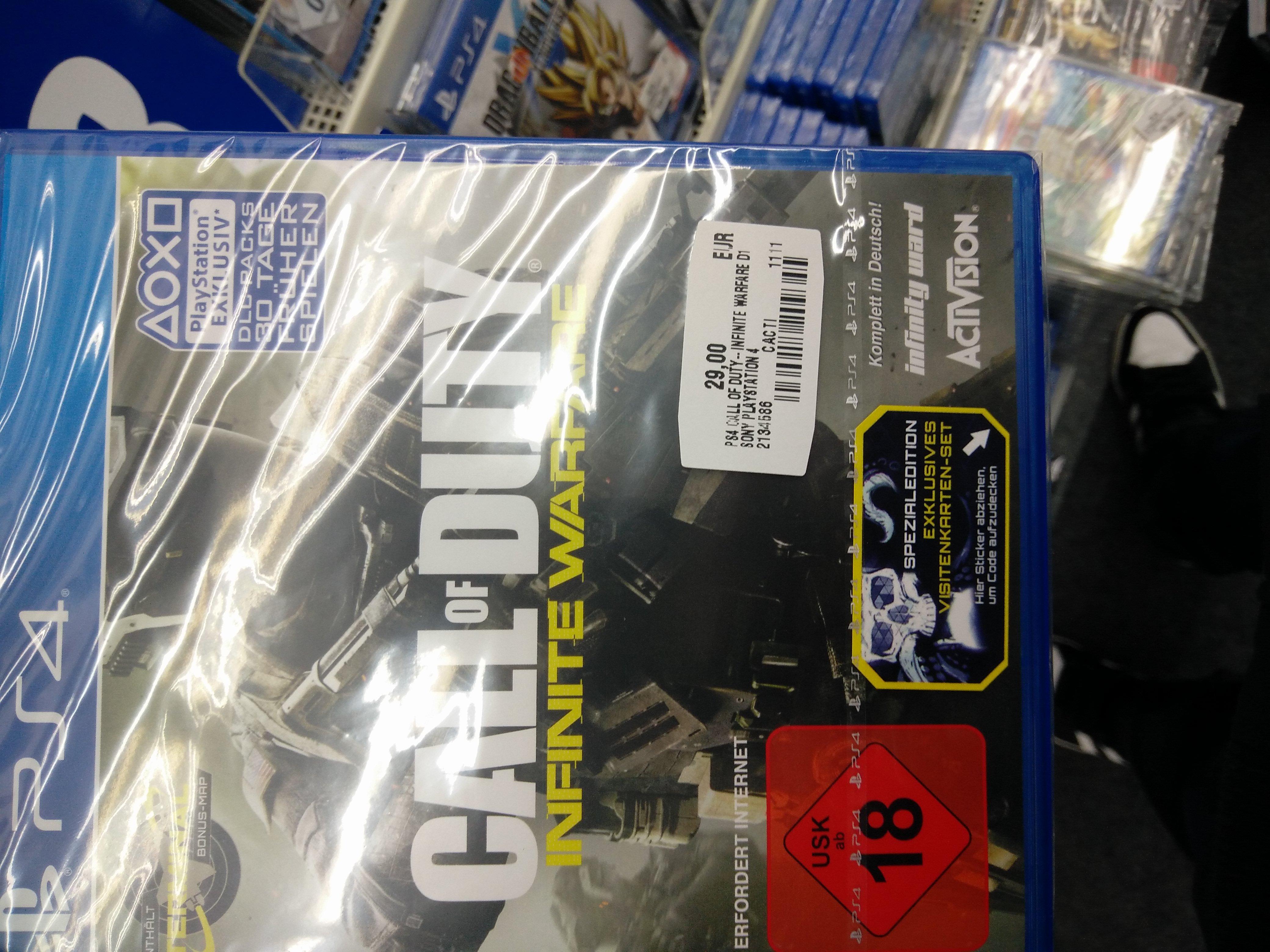 [Lokal MM Schweinfurt]  Call of Duty: Infinite Warfare (PS4) für 29,-€ und Battleborn (PS4) für 5,-€