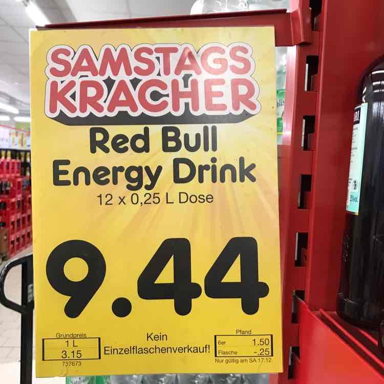 Red Bull Energy - 12 Dosen für 7,55€ - Netto (Stück 0,63€)
