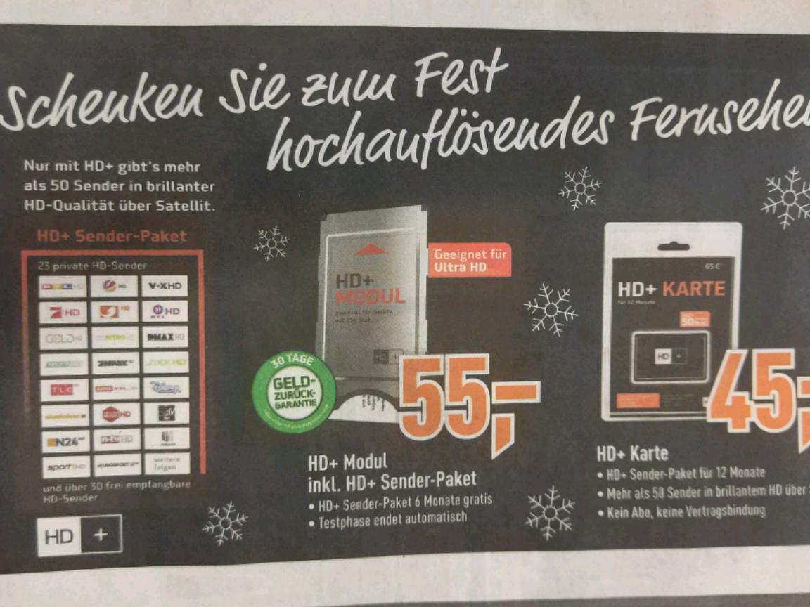 Berlet - HD+ Karte-45€ / oder mit modul für 55€