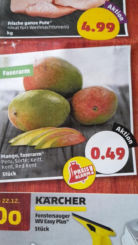 Mango ab Montag bei Penny für 0,49 €