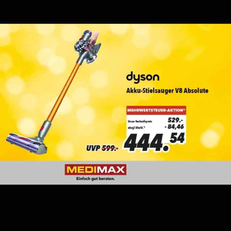 Dyson V8 Absolute Akkusauger Lokal im Medimax Heinsberg