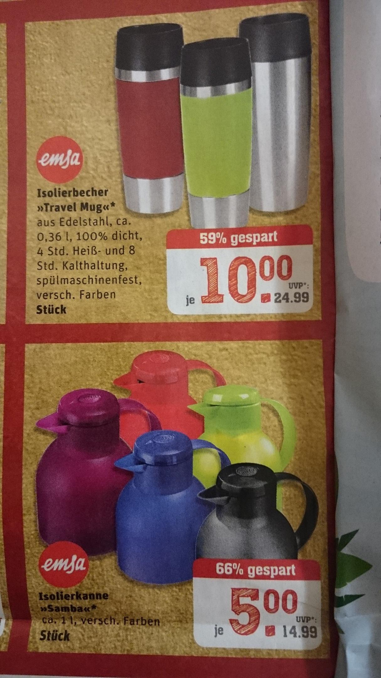 """Rewe-Center: Emsa """"Travel Mug"""" 0,36l und Emsa Samba 1l"""