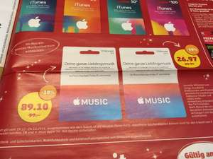 [Penny] Apple Music Prepaidcard - 3 Monate 26,97€ oder 12 Monate 89,10€