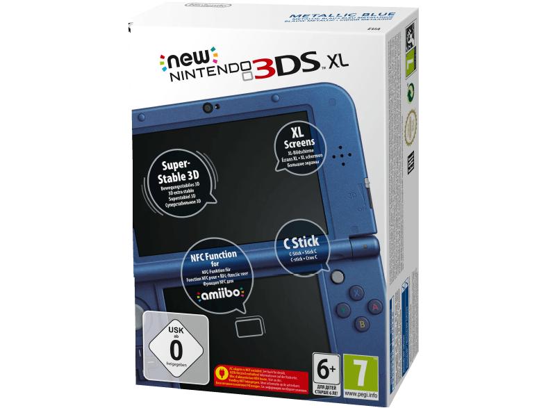 [Saturn Online Offers] Nintendo New 3DS XL metallic, Spielkonsole, blau für 165,-€ Versandkostenfrei