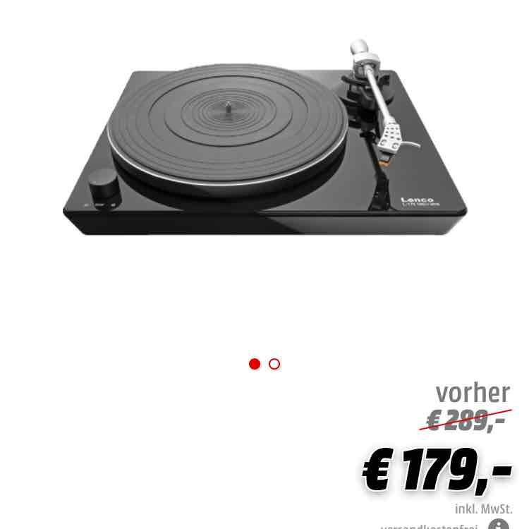 [Mediamarkt Adventskalender] Bis morgen, 18.12.  09.00 Uhr Lenco L175 Plattenspieler Online VSK-Frei