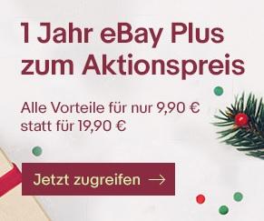 1 Jahr eBay Plus zum halben Preis - €9,90 € anstelle von 19,90 €