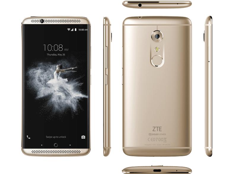 """[Mediamarkt] ZTE Axon 7Gold 5,5"""" Display 64 GB 20 MP Kamera Android 6.0 Dual-SIM für 339,-€ Versandkostenfrei"""