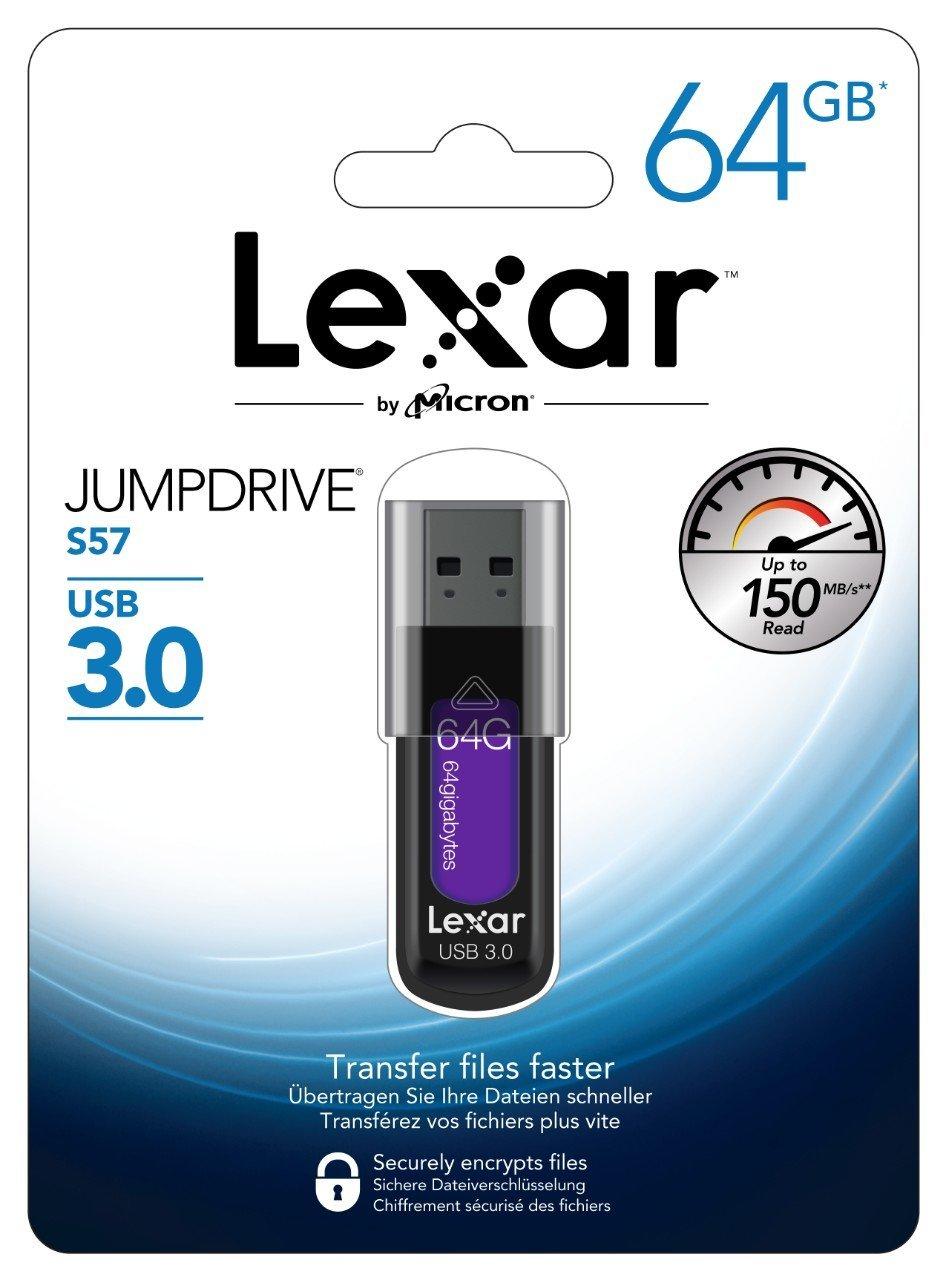 Lexar JumpDrive S57 - 64GB USB 3.0 für 10,00€ [eBay]