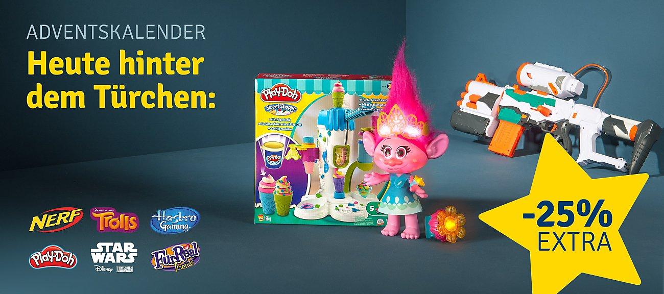 mytoys.de gibt heuzte 25% Rabatt auf die Marke Hasbro