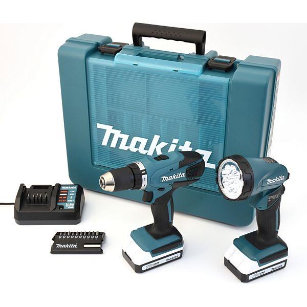 [Plus.de] Makita DF457DWLX1 18 V Li-Ion Akkuschrauber-Set inkl. 2 Akkus, Ladegerät, Taschenlampe, Bitset und Transportkoffer (inkl. Gutschein) + 3% Shoop