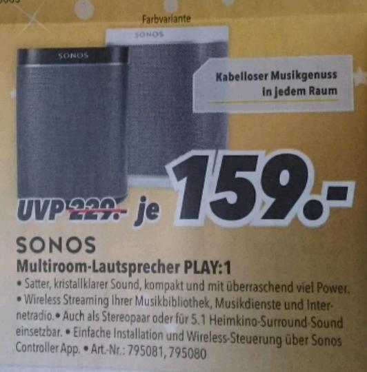 Sonos Multiroom-Lautsprecher PLAY:1 - Berlin und Umgebung